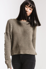 rag poets Park Slope Sweater Vetiver - Product Mini Image