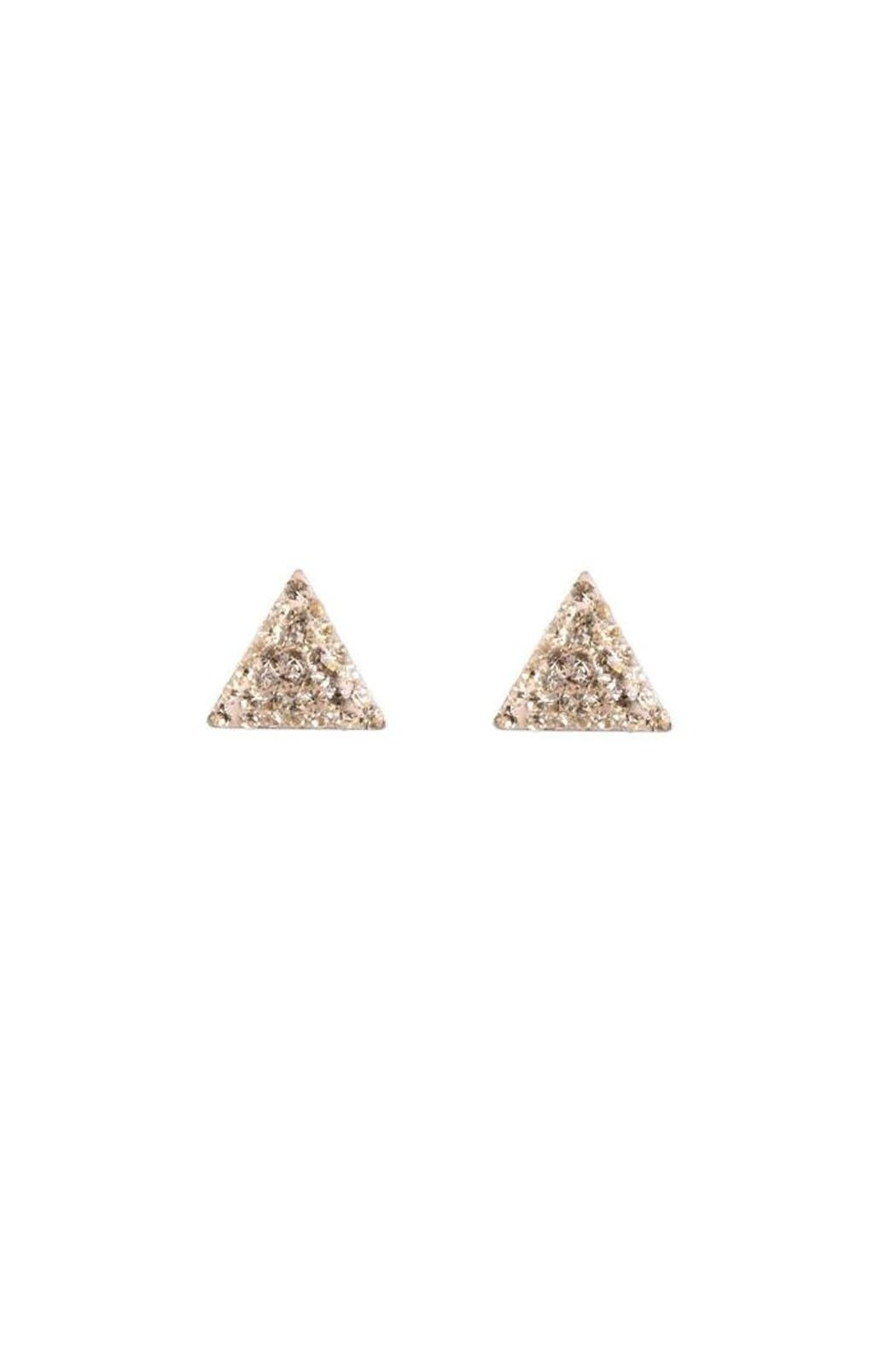 PARK AND BUZZ Radiance Triangle Stud - Main Image