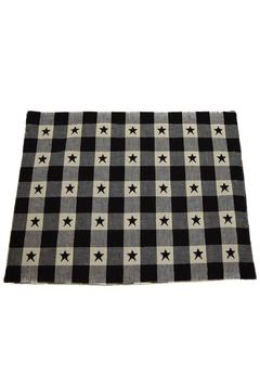 Shoptiques Product: Set of 4 Black Star Placemats