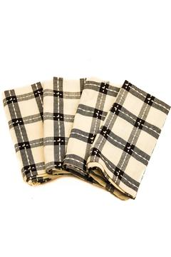 Shoptiques Product: Black & White Napkin Set of Four