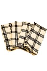 Park Designs Black & White Napkin Set of Four - Product Mini Image