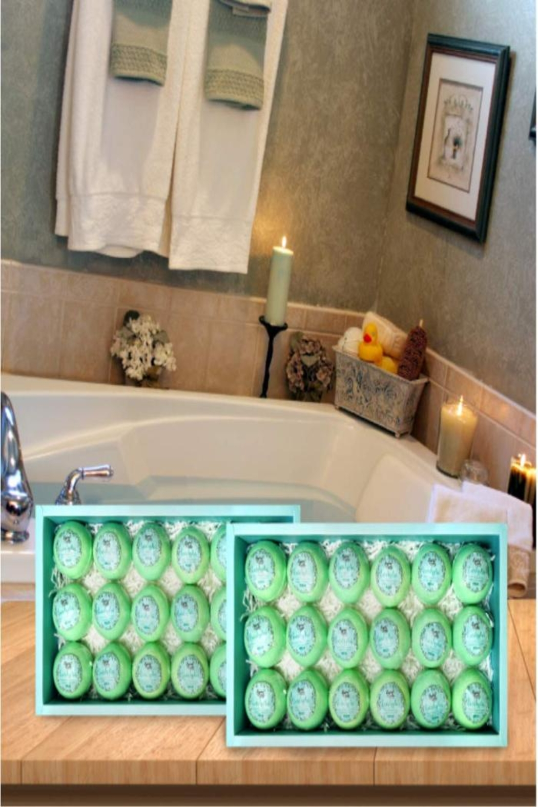 Parker Bath Bomb Gift Sets For Men. 18 Therapeutic Eucalyptus Bath Bombs For Sore Muscles - Back Cropped Image