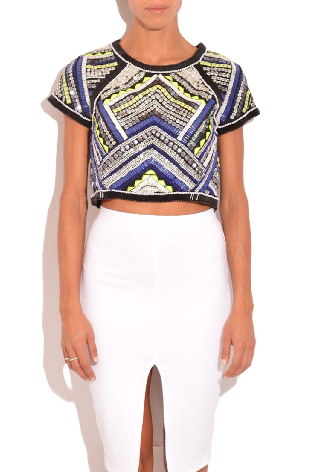 47a3c5500bc41 Parker Beaded Crop Top from Florida by Rhythm of Grace — Shoptiques