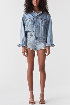 AGOLDE Parker Denim Short in Bitter - Product List Image