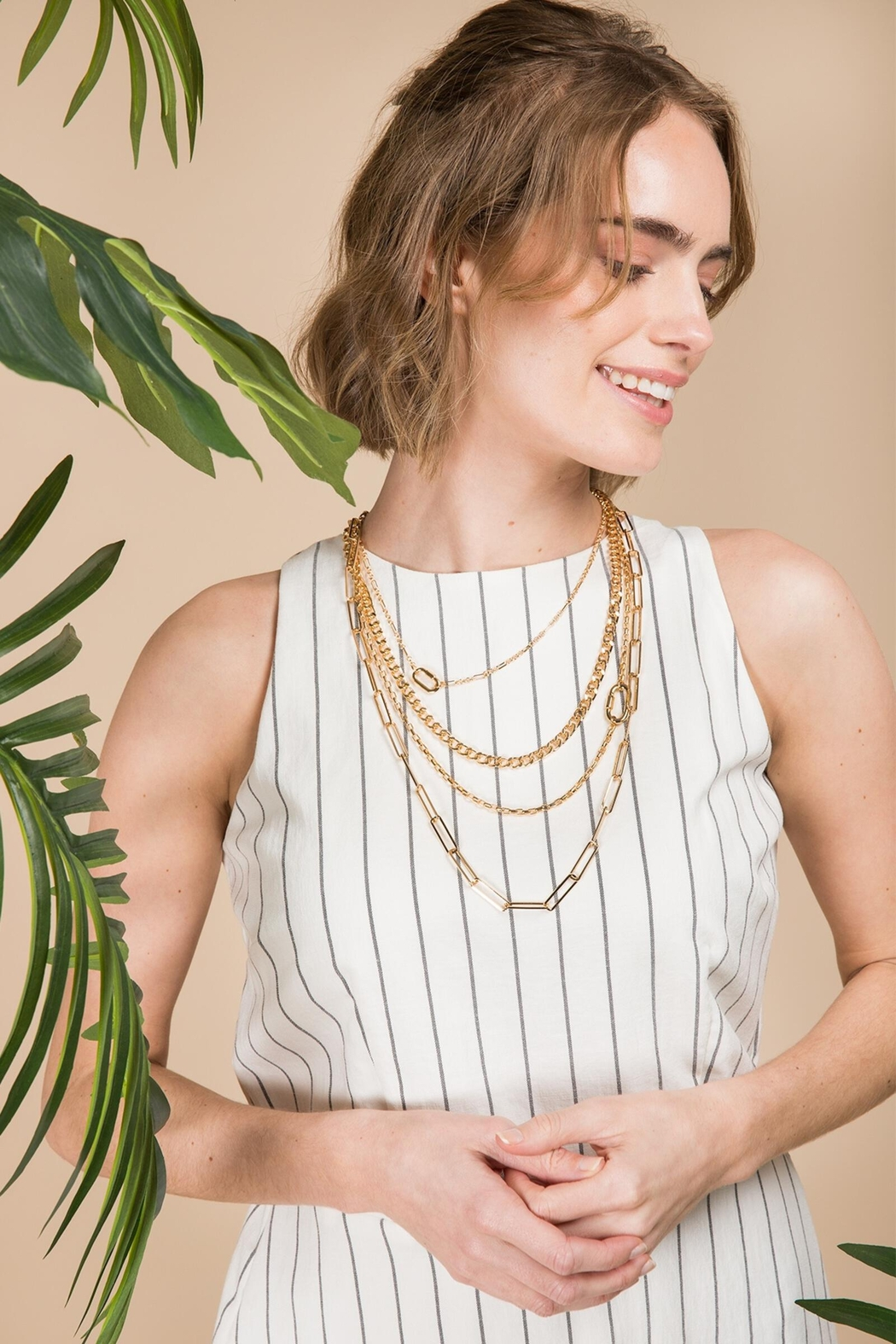 Saachi Parker Layered Necklace - Front Full Image