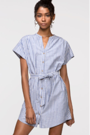 Greylin Parker Linen Tie-Waist Dress - Product Mini Image
