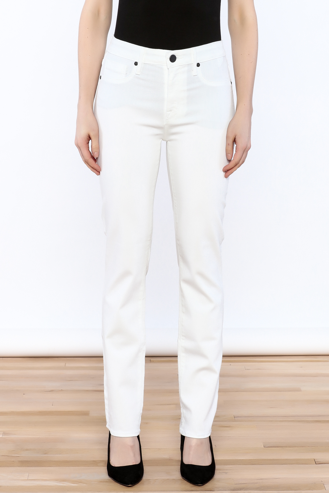 Parker Smith White Skinny Jean - Side Cropped Image