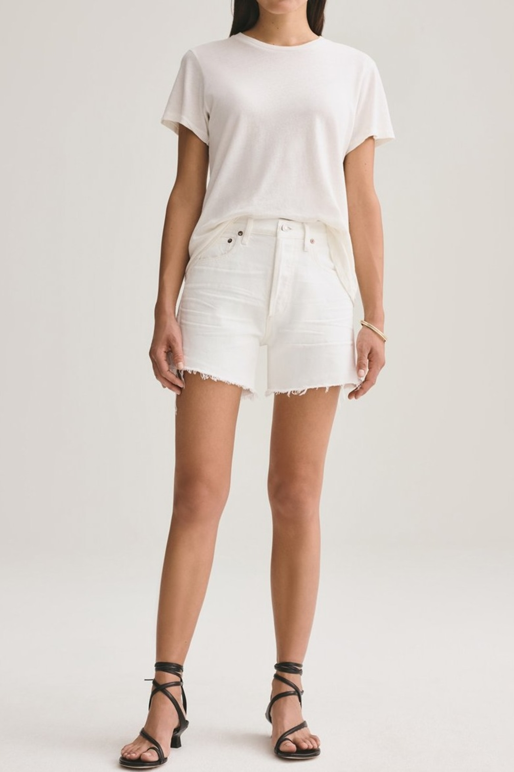 AGOLDE Parker Vintage Cut Off Short In Tissue - Front Cropped Image