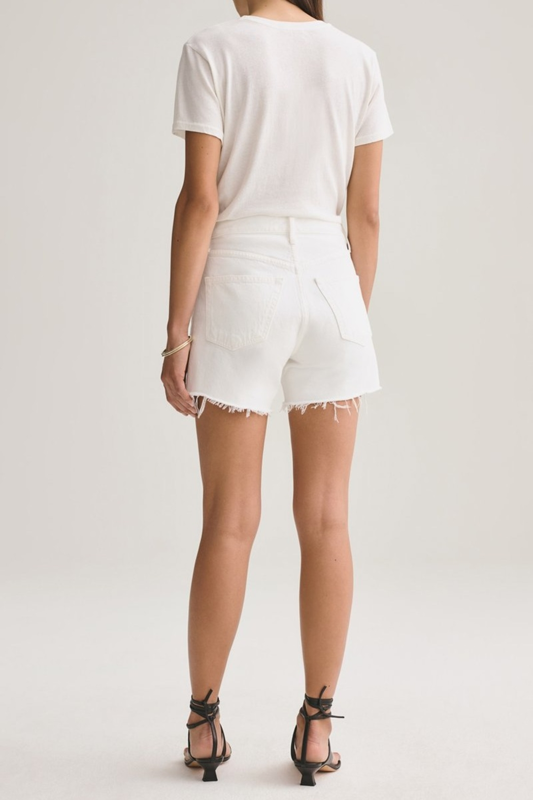 AGOLDE Parker Vintage Cut Off Short In Tissue - Side Cropped Image