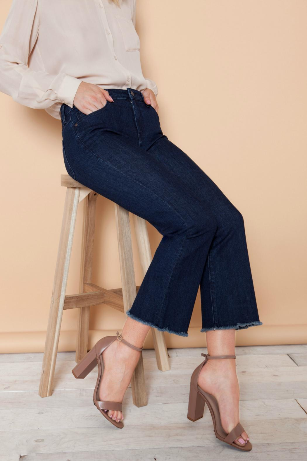 Parker Smith Cropped Flare Jean - Back Cropped Image