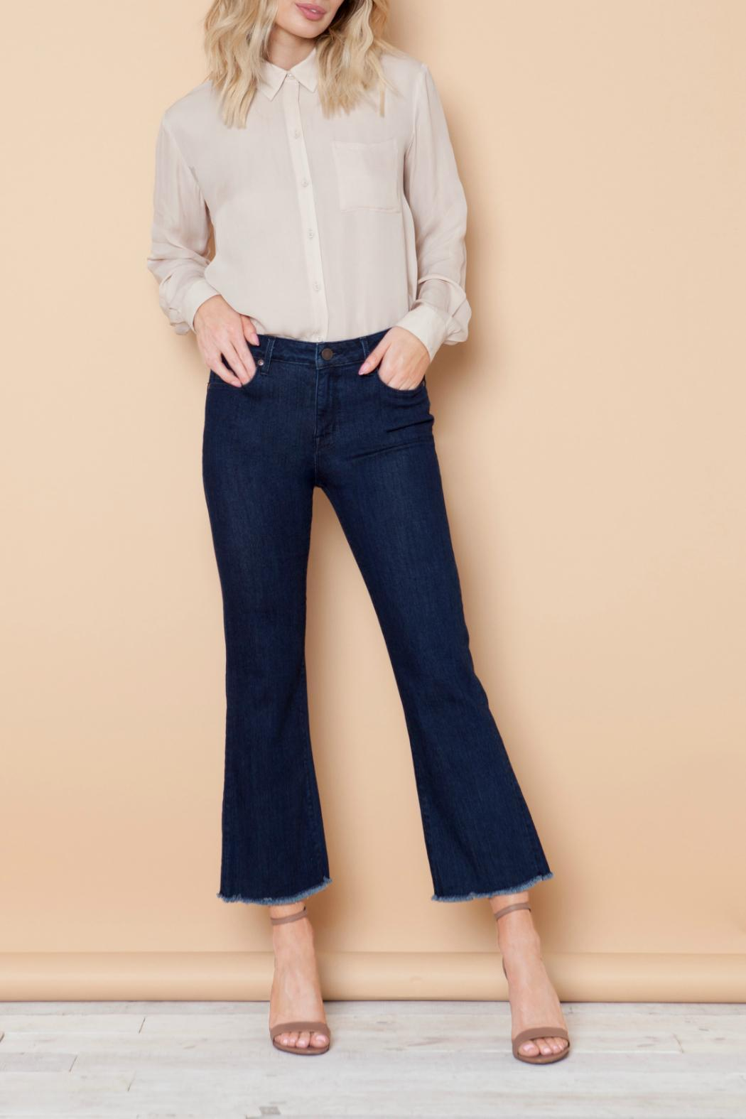 Parker Smith Cropped Flare Jean - Side Cropped Image