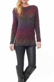 Parkhurst Colorful Boatneck Sweater - Front cropped