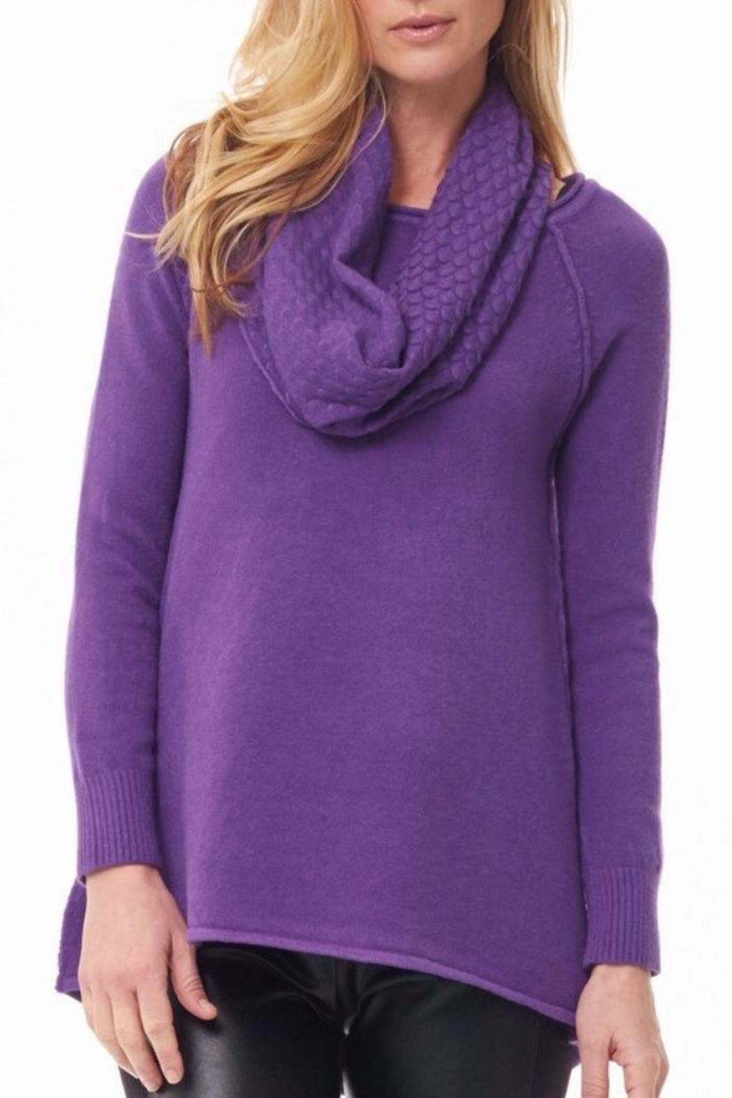 Parkhurst Crewneck With Scarf - Front Full Image