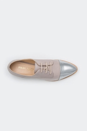 Parlanti Grey Silver Brogues - Back cropped