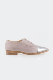 Parlanti Grey Silver Brogues - Front full body