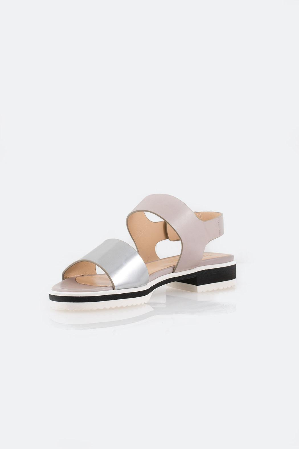 Parlanti Grey Sandal - Front Cropped Image