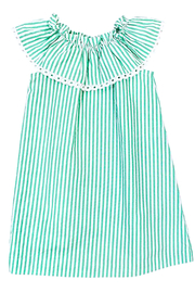 Bailey Boys Parrot-Green Seersucker KiKi-Dress - Back cropped