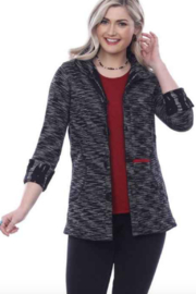 Parsley and Sage Kendra Reversible Shirt Jacket 20W247G3 - Front full body