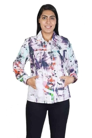 Parsley & Sage Abstract Cotton Jacket - Front cropped