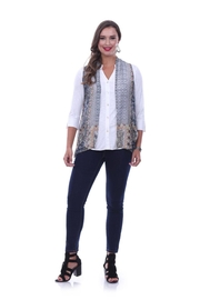 Parsley & Sage Abstract Georgette Vest - Product Mini Image