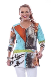 Parsley & Sage Abstract Jersey Top - Product Mini Image