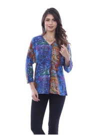 Parsley & Sage Abstract Pleat Top - Product Mini Image