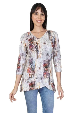 Parsley & Sage Asymmetrical Abstract Tunic - Alternate List Image