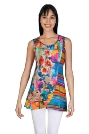Parsley & Sage Asymmetrical Colorful Top - Product Mini Image