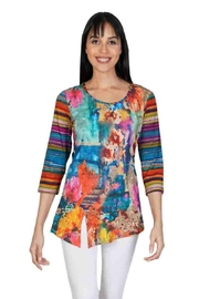 Parsley & Sage Asymmetrical Jersey Top - Product Mini Image