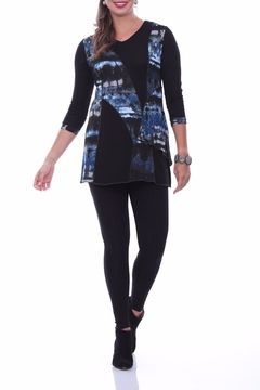 Shoptiques Product: Blue Abstract Tunic