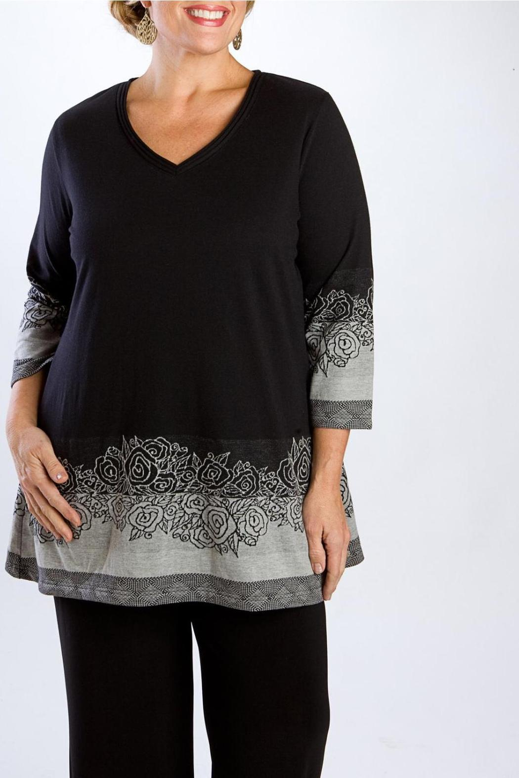 9138175af49 Parsley & Sage Bouquet Tunic from Charlotte by Scarlett Plus Size ...