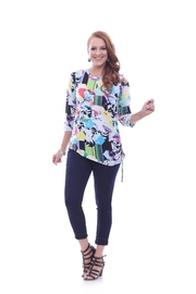 Parsley & Sage Colorful Asymmetrical Top - Front cropped