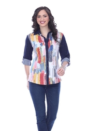 Parsley & Sage Colorful Button-Up Shirt - Product Mini Image