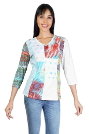 Parsley & Sage Colorful Patchwork Top - Product Mini Image