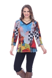 Parsley & Sage Colorful Seam Top - Product Mini Image