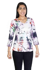 Parsley & Sage Colorful Stretch Top - Product Mini Image