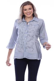 Parsley & Sage Embroidered Cotton Shirt - Product Mini Image