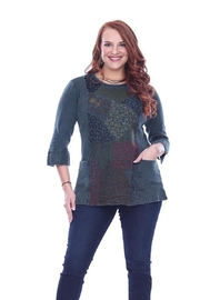 Parsley & Sage Embroidered Long Top - Product Mini Image