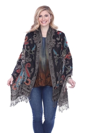 Parsley & Sage Embroidered Paisley Shawl - Product Mini Image