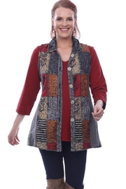 Parsley & Sage Embroidered Patchwork Vest - Product Mini Image