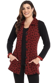 Parsley & Sage Knit Vest With Pockets - Front cropped
