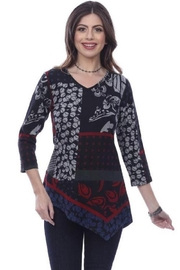 Parsley & Sage Patchwork Asymmetrical Top - Product Mini Image