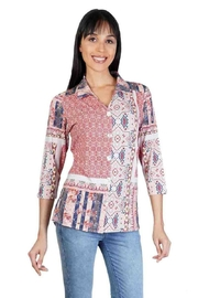 Parsley & Sage Patchwork Button-Up Top - Product Mini Image