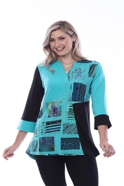 Parsley & Sage Patchwork Hi-Lo Tunic - Product Mini Image