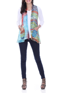 Parsley & Sage Printed Shawl Vest - Product List Image