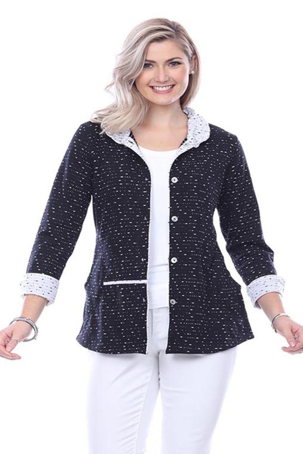 Parsley & Sage Reversible Cotton Jacket - Front Cropped Image