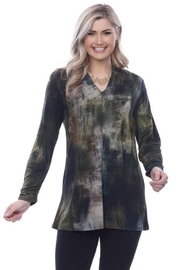 Parsley & Sage Ruched Sleeve Tunic - Product Mini Image