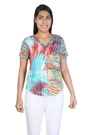 Parsley & Sage Ruched V-Neck Top - Product Mini Image