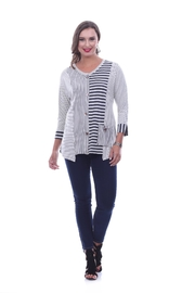 Parsley & Sage Stripe Asymmetrical Top - Product Mini Image