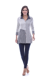 Parsley & Sage Stripe Flare Tunic - Product Mini Image